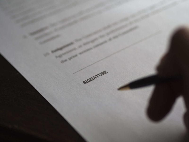 signature contrat matrimonial